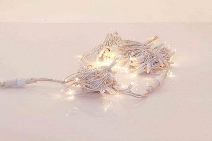Светодиодная гирлянда Easylight LED rubber, 2.5 м, 120 теплых белых ламп, с белым проводом, 230 ВНовогодние гирлянды<br><br>