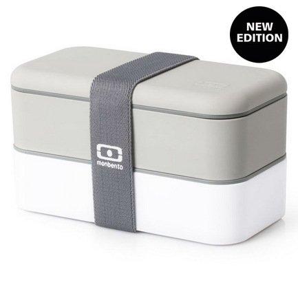 Ланч-бокс MB Original New Edition, 19х10х9.4 см, серо-белый
