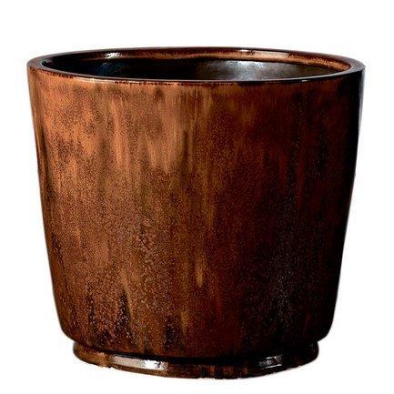 Кашпо Crystal Vaso Red Rust, медное, 42x36 смКашпо<br><br><br>Серия: Deroma Crystal