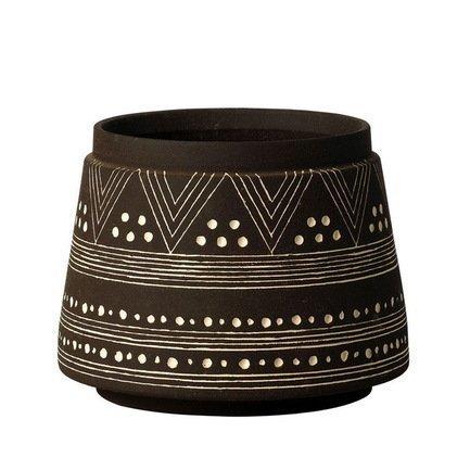 Кашпо Mali Cilindro Black, черное, 13.5x15 смКашпо<br><br><br>Серия: Mali