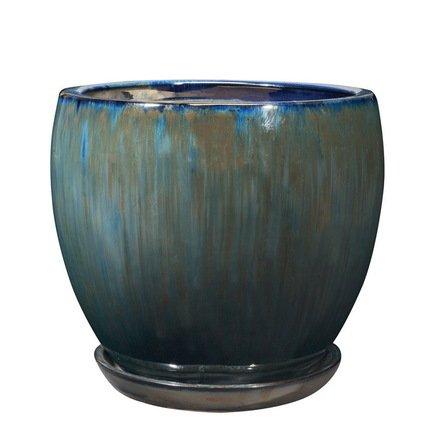 Кашпо Sylphe Vaso Blu, голубое, 20x16.5 смКашпо<br><br><br>Серия: Sylphe