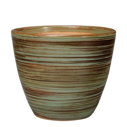 Кашпо Rainbow Vaso Verde, зеленое, 34x27 смКашпо<br><br><br>Серия: Deroma Rainbow