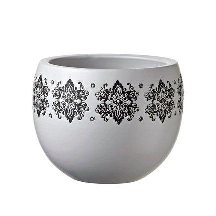 Кашпо Gipsy Ciotola White, белое, 15x12 смКашпо<br><br><br>Серия: Gipsy