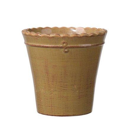 Кашпо Macrame Vaso Mustard, горчичное, 17x16 смКашпо<br><br><br>Серия: Macrame