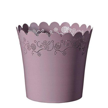 Кашпо Lace Vaso lavanda, сиреневое, 23x21 смКашпо<br><br><br>Серия: Lace