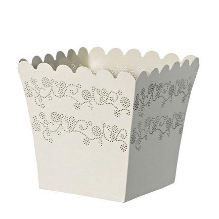 Кашпо Lace Quadro white, белое, 23x21 смКашпо<br><br><br>Серия: Lace