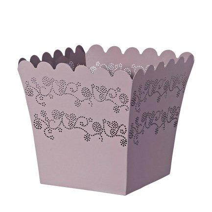 Кашпо Lace Quadro lavanda, сиреневое, 18x16 смКашпо<br><br><br>Серия: Lace