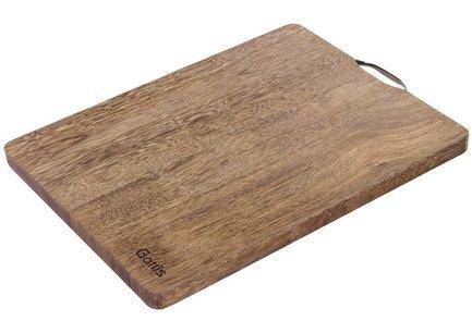 Разделочная доска, 34.5x24x2 см, из дерева панга-пангаРазделочные доски<br>Надежная и удобная прямоугольная разделочная доска из дерева панга-панга – универсальный вариант для нарезки и измельчения различных продуктов. Ножи не будут быстро тупиться о её поверхность.<br><br>Серия: Разделочные доски Gottis