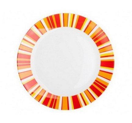 Набор тарелок плоских Фортуна оранж, 20 см, 6 пр.Тарелки и Блюдца<br><br><br>Серия: Фортуна оранж
