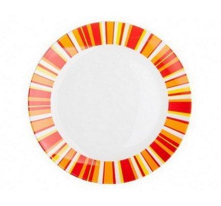Тарелка плоская Фортуна оранж, 25 смТарелки и Блюдца<br><br><br>Серия: Фортуна оранж