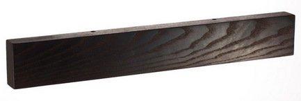 Магнитная планка для ножей из термоясеня, черная, 45x5x23 смМагнитные держатели, Подставки для ножей<br>Держатель для кухонных ножей - необычный и стильный аксессуар. Он компактен, практичен, удобен и безопасен для хранения ножей из стали. Прикрепить держатель вы сможете в любом подходящем для вас месте.<br><br>Серия: Магнитные планки для ножей Chef