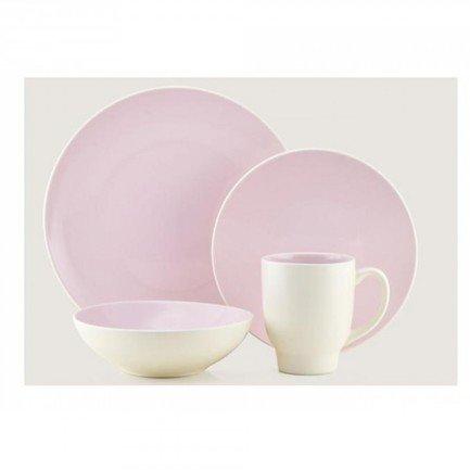 Обеденный сервиз Ови на 4 персоны, бледно-розовый, 16 пр. (204277)Столовые сервизы<br>Красивый набор столовой посуды пригодится в любом доме. Данный обеденный сервиз рассчитан на 4 персоны и отлично подойдет для сервировки ежедневной семейной трапезы или приема нескольких гостей.<br><br>Серия: Thomson Pottery<br>Состав: Обеденная тарелка, 26 см - 4 шт., Десертная тарелка, 20 см - 4 шт., Пиала, 15х7 см - 4 шт., Кружка (340 мл) - 4 шт.