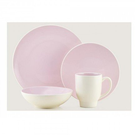 Обеденный сервиз Ови на 4 персоны, бледно-розовый, 16 пр. (204277) Thomson Pottery 00030356