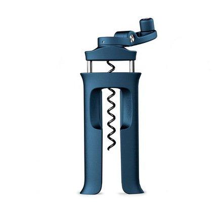 Винтовой штопор BarWise эргономичный, 13.7х6.4 см, синий