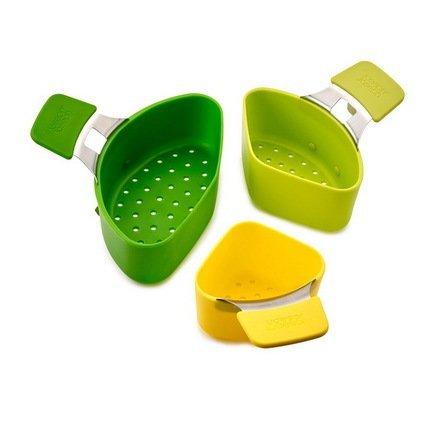 Набор пароварок для кастрюли Nest, компактный, 3 шт.Пароварки<br>Минимальный диаметр кастрюли, подходящей для использования набора: 18 см.  Минимальная глубина кастрюли, подходящей для использования набора: 8 см.<br><br>Серия: Nest