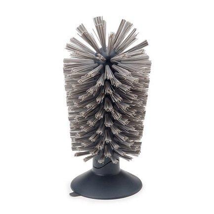 Щетка для стаканов на присоске Brush-up, 14.2х8 см, сераяЧистота и порядок<br><br><br>Серия: Brush-up