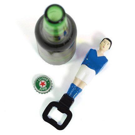 Открыватель для бутылок Football, 16.5 см, синийОткрывалки и Штопоры<br><br><br>Серия: Football