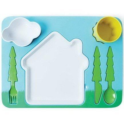 Поднос-сервиз для ребенка Landscape, 35х26х8.5 см Doiy DHDKLDS