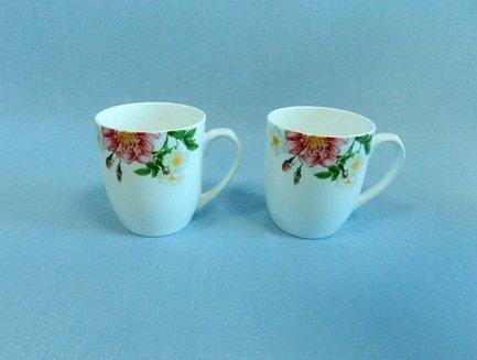 Набор кружек Цветущий шиповник (350 мл), 2 пр.Чашки и Кружки<br>Две чайные пары в одном наборе – это очень удобно, красиво и практично. С этим набором можно быстро сервировать чаепитие на двоих и выпить чашку горячего чая с лучшим другом. Крепкий ароматный напиток в белоснежной фарфоровой чашке выглядит очень красиво и остается горячим довольно долго. На маленькое блюдце удобно класть чайную ложечку или небольшой десерт к чаю - конфеты или печенье.<br><br>Серия: Цветущий шиповник<br>Состав: Чашка (350 мл) - 2 шт., Блюдце - 2 шт.