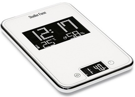 Весы кухонные Scale One, 15.5x22.7x2 см, белые