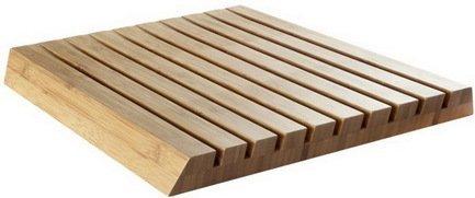 Разделочная доска Chopping Board Bamboo, 25х25х3 см, бамбуковая