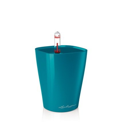 Кашпо Мини-Дельтини, бирюзово-синее, с системой полива, 10х10х13 см Lechuza 14954