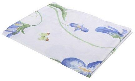 Скатерть с рисунком Grand Iris, 140х220 см, полухлопок, синяяСкатерти<br><br><br>Серия: Apolena Акварель