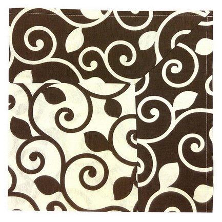 Скатерть с кантом Верде, 170х170 см, хлопок, шоколадСкатерти<br><br><br>Серия: Цветочные мотивы