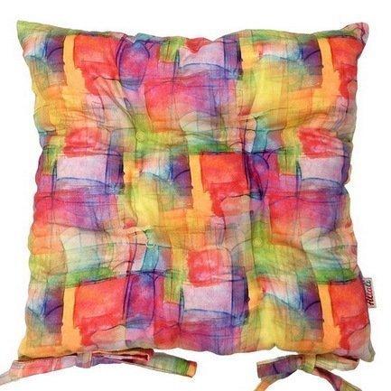 Подушка на стул с рисунком Happy holi, 41х41 см, хлопок, мультиколорПодушки на стул<br><br><br>Серия: Apolena Акварель