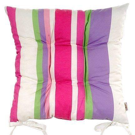 Подушка на стул с рисунком Purple Garden, 41х41 см, полухлопок, мультиколорПодушки на стул<br><br><br>Серия: Кантри