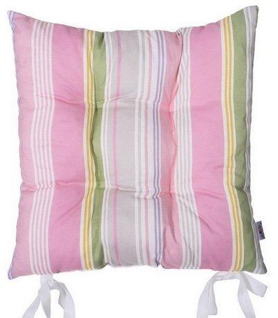 Подушка на стул Rose line, 41х41 см, розовая, полухлопокПодушки на стул<br><br><br>Серия: Орнамент