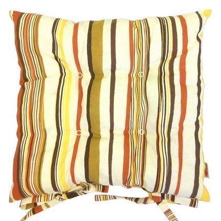 Подушка на стул с рисунком Рондо, 41х41 см, хлопок, шоколадПодушки на стул<br><br><br>Серия: Орнамент