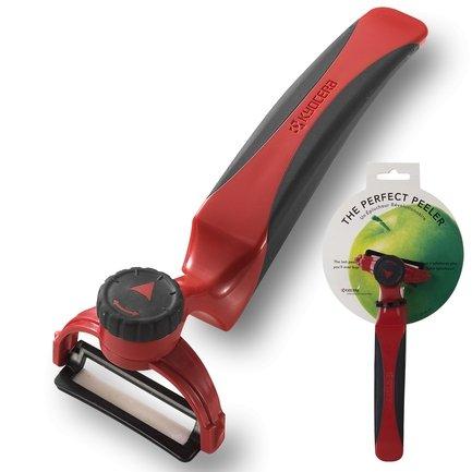 Овощечистка Perfect Peeler, с поворотным устройством, плавающее керамическое лезвие, красная