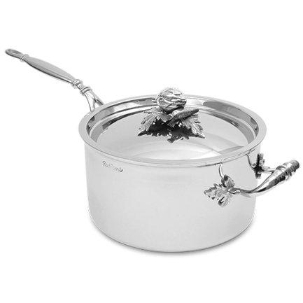Ковш с крышкой (3.5 л), 20х11 смКовши<br>Удобная посуда для приготовления небольших порций блюд. В этом медном сотейнике вы можете тушить, сохраняя большее количество соуса, готовить гарниры и подливы. Посуда превосходно выдерживает высокие температуры при приготовлении, равномерно нагреваясь.<br><br>Серия: Opus Prima
