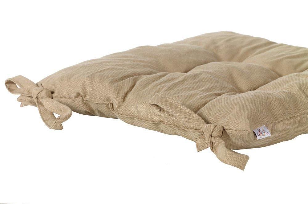 """Подушка на стул """"Вальс Бостон"""", 41х41 см, светло-коричневая от Superposuda"""
