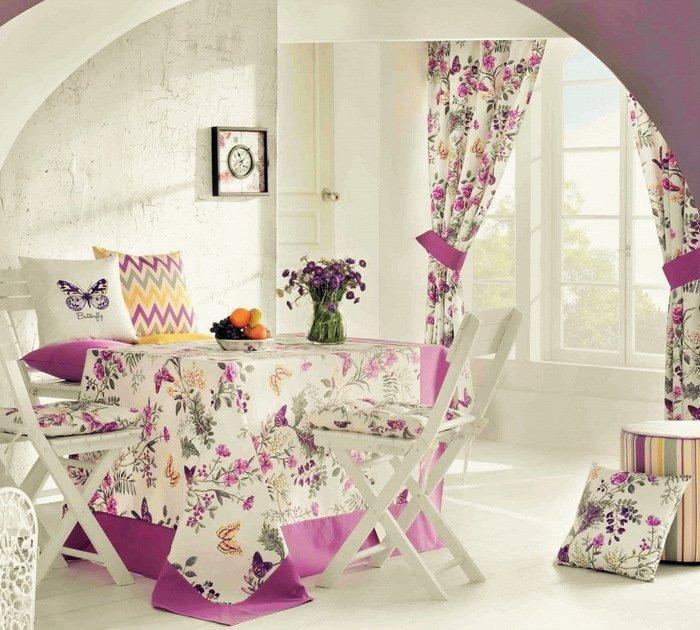 "Подушка на стул ""Butterfly"", 41х41 см, сиреневая от Superposuda"