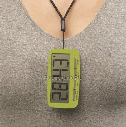 Магнитные часы-таймер на клипсе «Точное время», белые от Superposuda