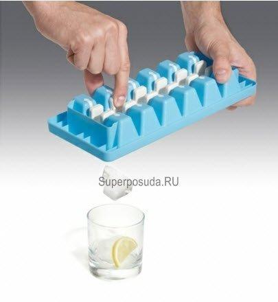 """Форма для льда """"Переверни"""", белая от Superposuda"""