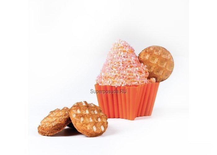 """Набор форм для маффинов """"Звезда"""", 7х6.6 см, 6 шт., оранжевые от Superposuda"""