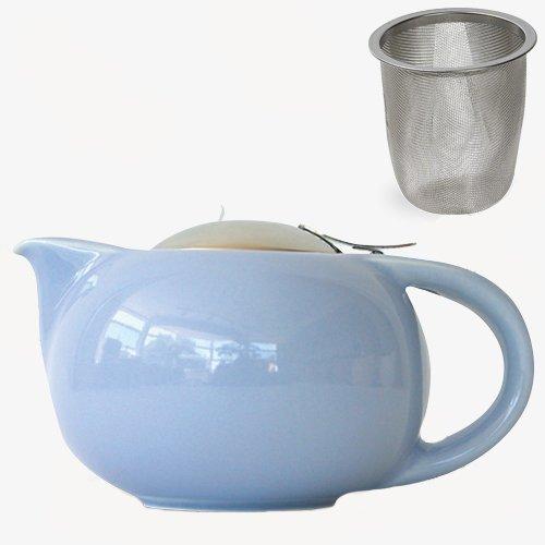 Чайник для чая с ситечком, костяной фарфор, объём 1 л