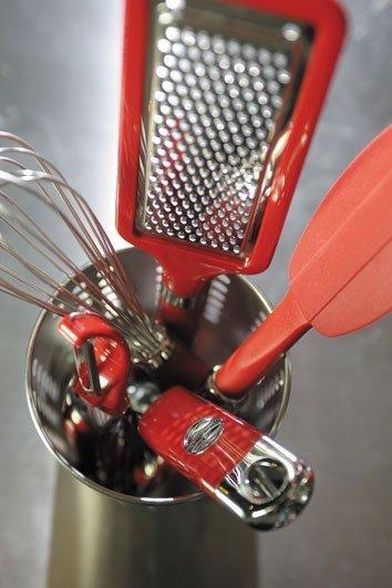 Мезалуна (нож для зелени), красная от Superposuda