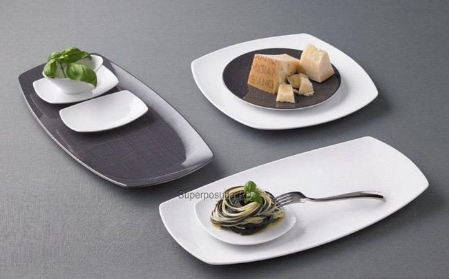 Блюдце треугольное Options, 11х1.6 см, белое от Superposuda